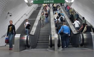 Sur la ligne A du métro de Toulouse. Illustration.