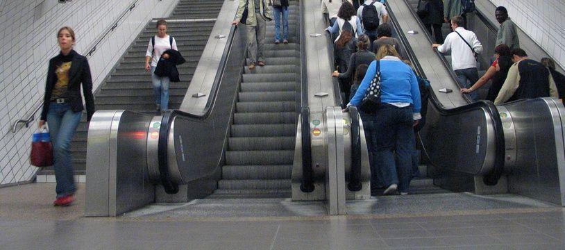 Le 27 septembre 2004, illustration de la ligne A du métro de Toulouse.