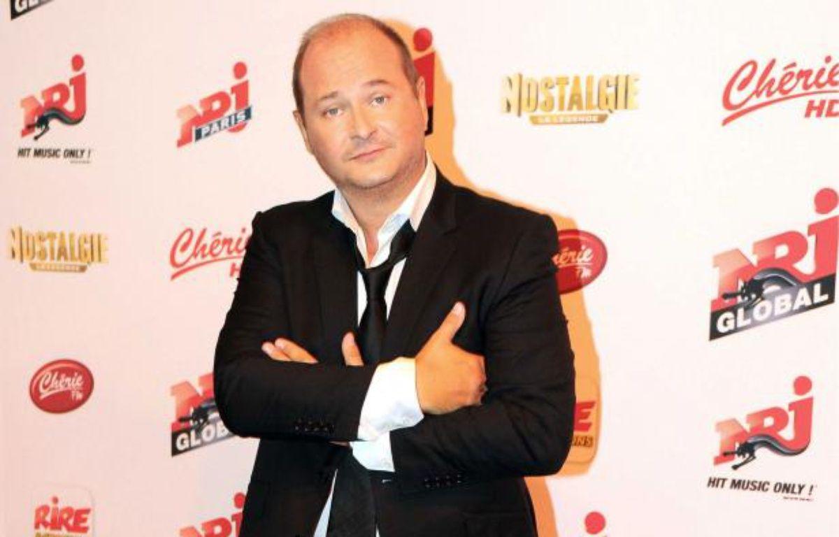 Sebastien Cauet lors de la conference de presse de rentree du groupe NRJ le 12 septembre 2012.  – GHNASSIA ANTHONY/SIPA