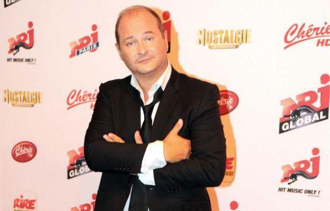 Sebastien Cauet lors de la conference de presse de rentree du groupe NRJ le 12 septembre 2012.