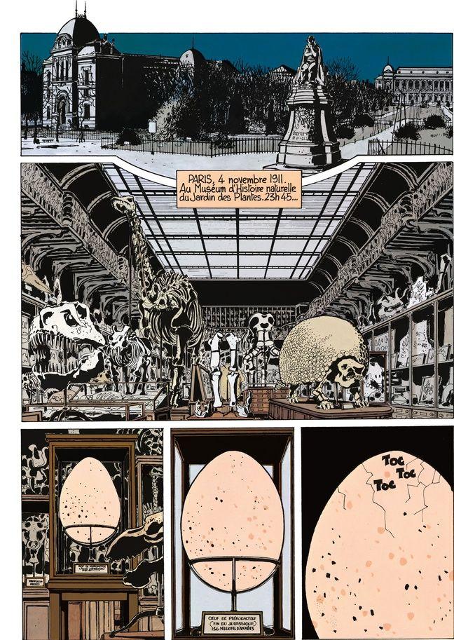 Le Jardin des plantes et la Galerie de paléontologie, dans « Adèle Blanc-Sec - Adèle et la bête » de Tardi.