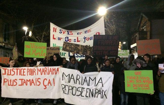 La marche blanche en hommage à Mariama