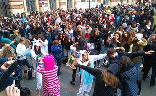 Mannequin Challenge géant à Toulouse, le dimanche 4 décembre 201.