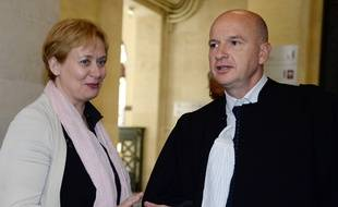 Isabelle Prévost-Desprez et son avocat François Saint-Pierre. JEAN-PIERRE MULLER