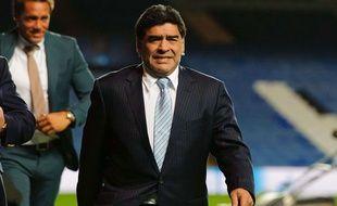 Diego Maradona à Londres le 18 mars 2014.