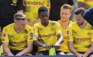 Ousmane Dembélé lors de la présentation de l'effectif du Borussia Dortmund, le 9 août 2017.