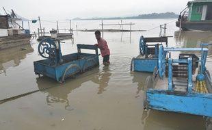 Une inondation causée par la mousson en Inde, le 11 juillet 2019.