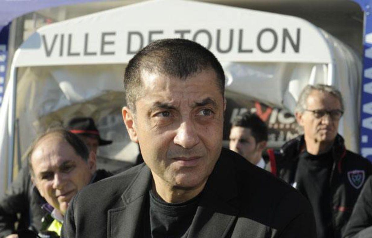 Mourad Boudjellal, le président de Toulon, le 14 décembre 2013, au stade Mayol. – BORIS HORVAT / AFP
