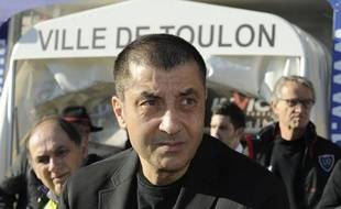 Mourad Boudjellal, le président de Toulon, le 14 décembre 2013, au stade Mayol.