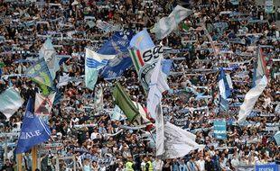 Des supporters de la Lazio Rome