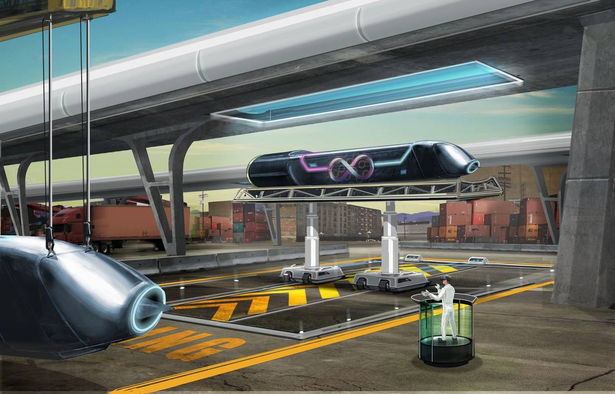 Hyperloop, le train du futur, pourrait mettre en circulation ses premiers modèles d'ici 5 ans, selon les chercheurs. – Holden/ Hyperloop Techn/ Sipa