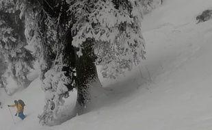 Des skieurs ont rencontré un léopard des neiges dans le nord de l'Inde.