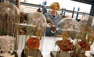 La salle de stockage des objets où doit se tenir l'inventaire des pièces.