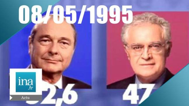 Le résultat de l'élection de 1995 à 20h pétante.