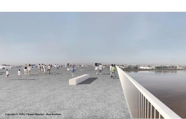 Circulations piétonnes sur le futur pont Simone-Vei à Bordeaux