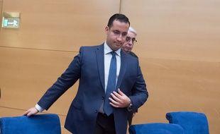Alexandre Benalla, le 21 janvier 2019 lors de son audition devant la commission d'enquête du Sénat.