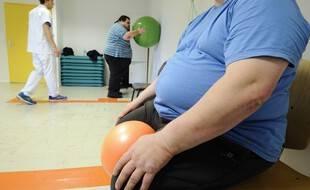 Des personnes obèses font des exercices dans un hôpital à Angers. (illustration)