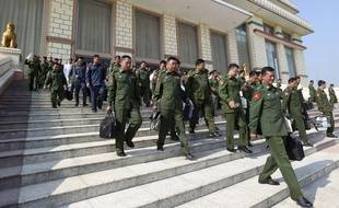 L'entrée du Parlement birman, à Naypyitaw, le 29 janvier 2019.