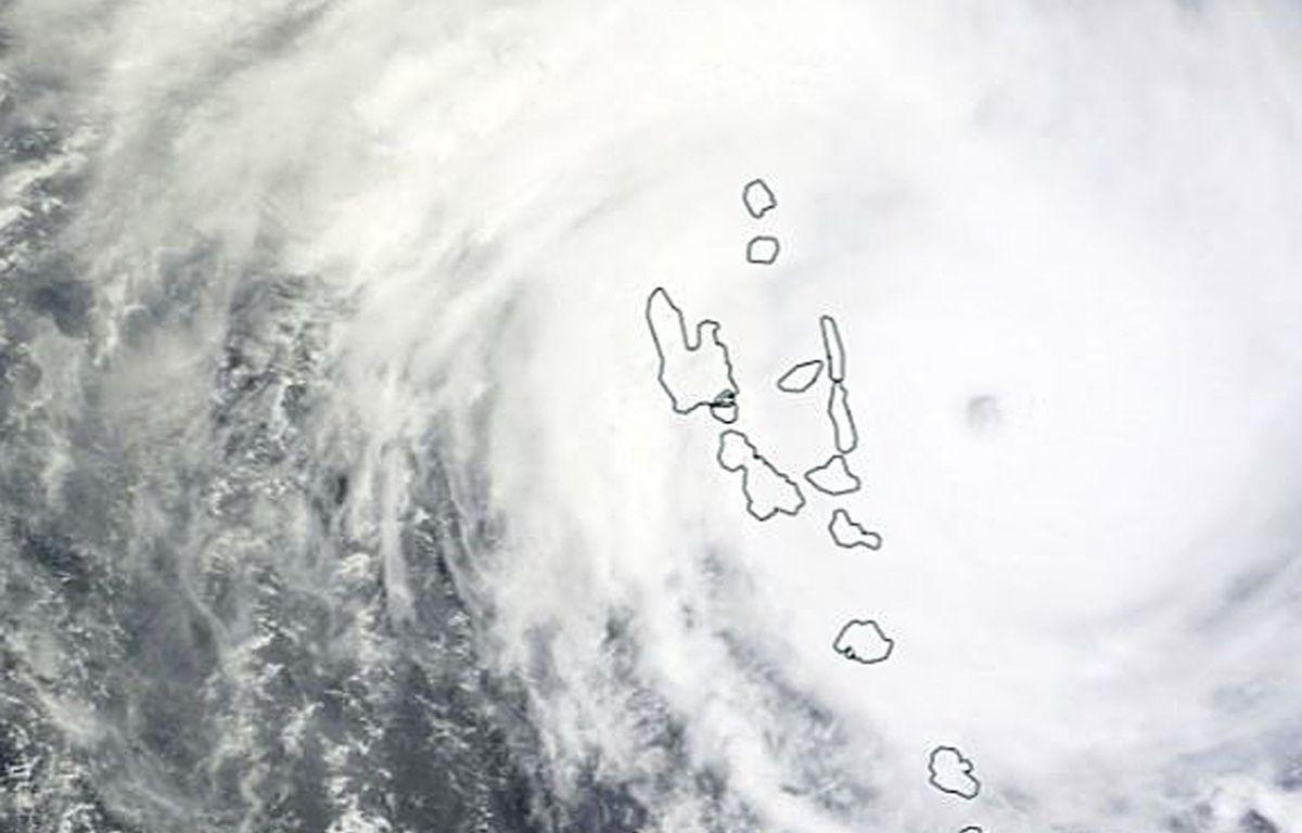 Cette image de la Nasa montre le cyclone Pam au Vanuatu, le 13 mars 2015. – NASA / AFP