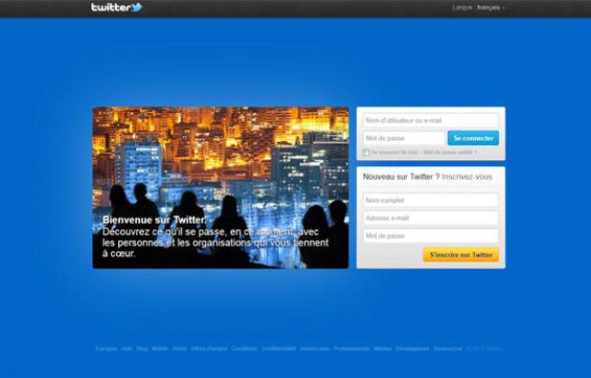 Page d'accueil du site de micro-blogging Twitter. – CAPTURE D'ECRAN/20MINUTES.FR