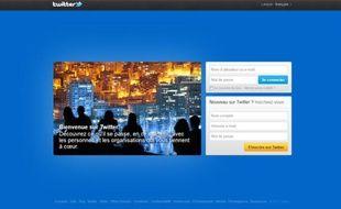 Page d'accueil du site de micro-blogging Twitter.
