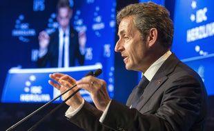 Nicolas Sarkozy, président des Républicains, parti héritier de l'UMP le 8 juin 2015.