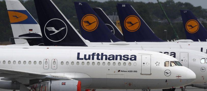 Une partie de la flotte de Lufthansa, à Munich le 26 mai 2020.