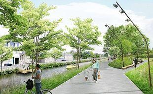 La municipalité veut inciter les Rennais à la balade sur les berges du canal.