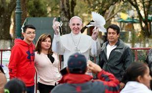 Le pape le 14 février 2016 à San Cristobal de las Casas dans l'Etat du Chiapas au Mexique