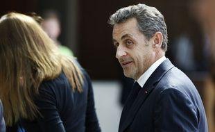 Nicolas Sarkozy lors d'une conférence à Monaco le 18 juin 2014.