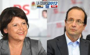 Martine Aubry et François Hollande