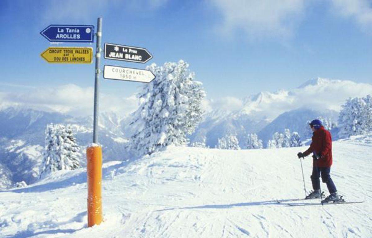 Une piste de ski à Courchevel. – SIPA