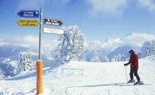 Une piste de ski à Courchevel.