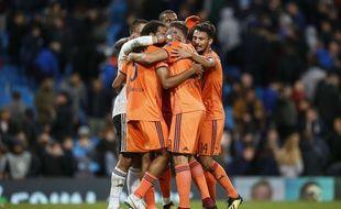 Les joueurs lyonnais se sont réunis au coup de sifflet final mercredi afin de savourer cet immense exploit contre City.