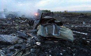 Des débris du vol de la Malaysia Airlines MH17, qui s'est écrasé en Ukraine le 17 juillet 2014.