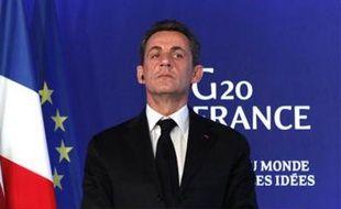Nicolas Sarkozy à Cannes, le 3 novembre 2011, lors du sommet du G20.