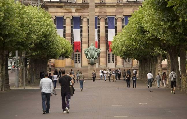 La façade de l'opéra place Broglie à Strasbourg.