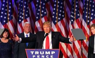 Donald Trump lors de son discours de victoire à New York le 8 novembre 2016.