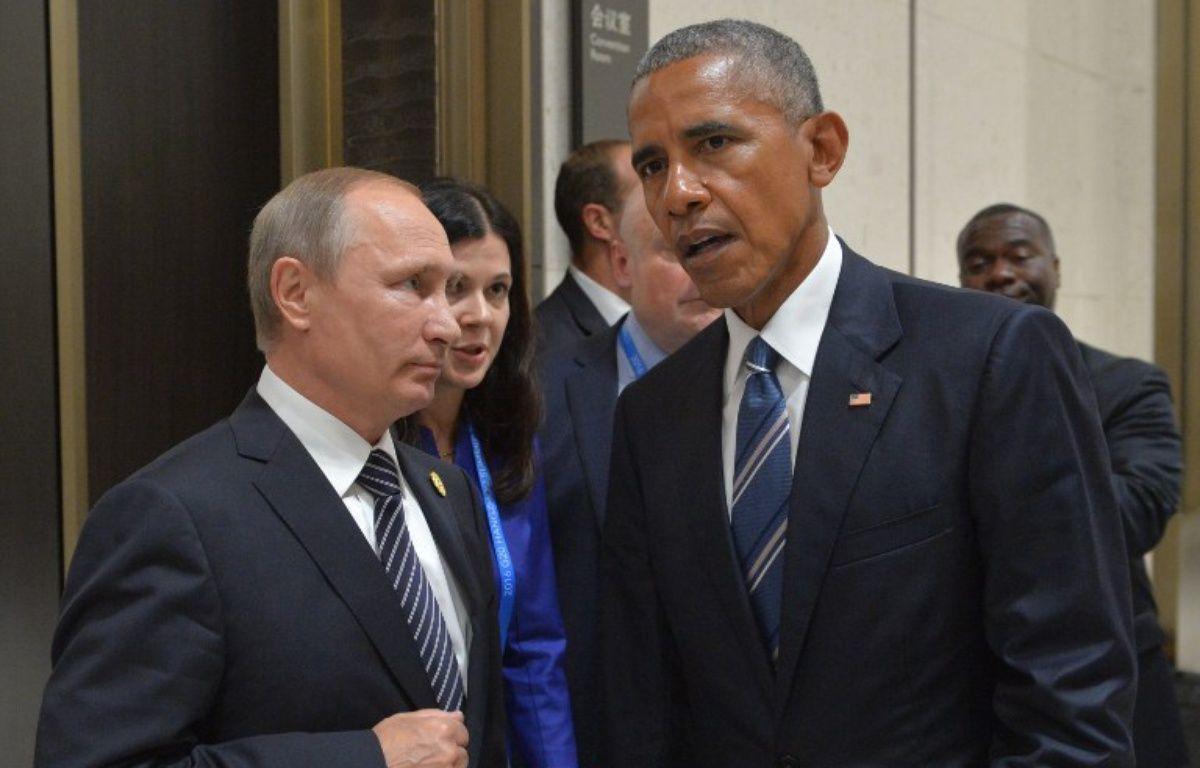 Le président américain Barack Obama et son homologue russe Vladimir Poutine. – ALEXEI DRUZHININ / SPUTNIK / AFP