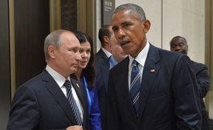 Le président américain Barack Obama et son homologue russe Vladimir Poutine.