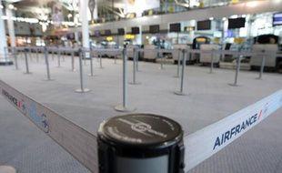 Un hall désert à l'aéroport de Marseille-Marignane, le 15 septembre 2014, alors que de nombreux pilotes d'Air France font grève
