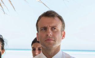 Emmanuel Macron sur l'île de Grande Glorieuse, le 23 octobre 2019.