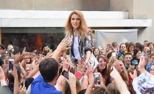 Céline Dion sur la scène du «Today Show» au Rockefeller Plaza, à New York, le 22 juillet 2016.