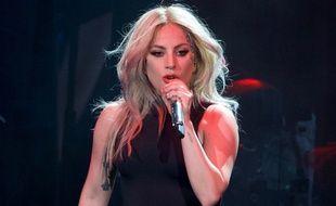 Lady Gaga sur scène à Coachella, le 23 avril 2017.