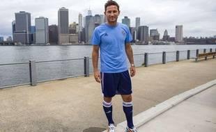 Frank Lampard lors de sa présentation à New York le 14 juillet 2014.