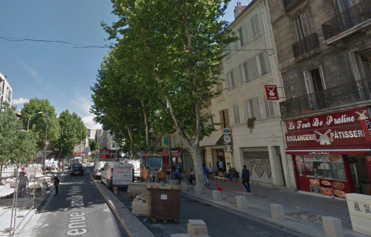 La portion  de l'avenue Camille-Pelletan, à Marseille, où un homme a été abattu le 3 mars 2017 – Google Street View