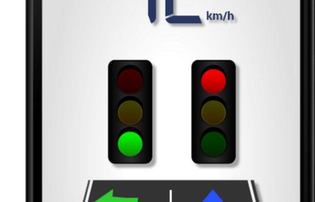 L'application C-The Difference donne des indications sur l'état d'un feu tricolore avant que l'automobiliste n'arrive dessus