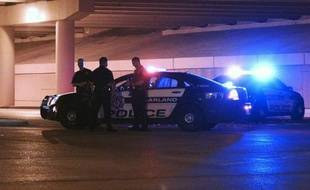 Des policiers le 4 mai 2015 à Garland au Texas