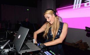 Paris Hilton au NRJ Music Awards (aftershow) à Cannes le 13 décembre 2014