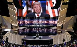 Donald Trump lors de la Convention républicaine à Cleveland, jeudi 21 juillet 2016.